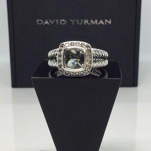 David Yurman Petite Albion Ring w/Prasiolite sz 6